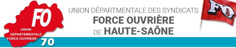 Union départementale des syndicats Force Ouvrière de Haute-saône 70