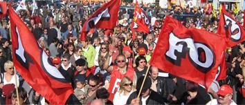 Manifestation Force Ouvrière 70